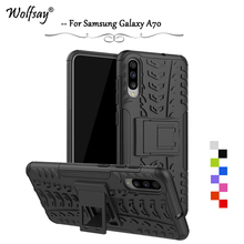 For Samsung Galaxy A70 Case Shockproof Armor Rubber Hard Phone Case For Samsung Galaxy A70 Back Cover For Samsung A70 A 70 Shell for samsung galaxy a70 case heavy duty hard rubber silicone phone case cover for samsung galaxy a70 case for galaxy a70 case