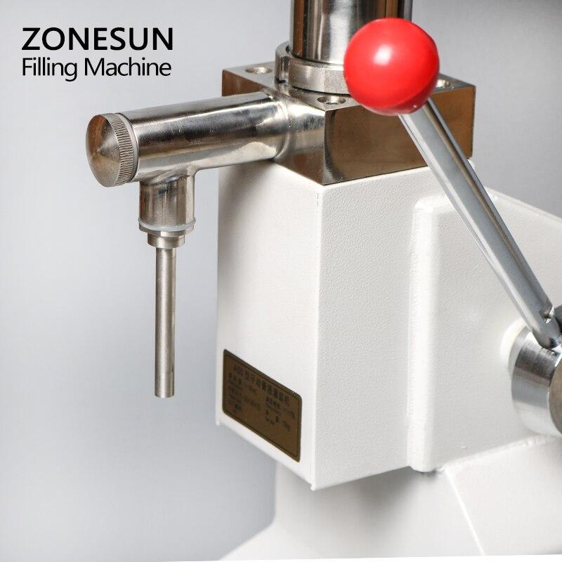 Máquina Manual de llenado de alimentos ZONESUN, máquina de presión de la mano, crema de Arequipe, equipo de envasado de Pasta Líquida de miel, relleno de zumo de champú - 3