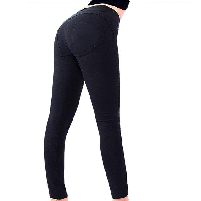 Skinny Leggings 2017 Women Autumn Full Length Mid Waist Elastic Work Wear Slim Trousers Workout Pants Leggings
