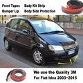 Carro lábios pára choques para Fiat Idea 2003 ~ 2015 / para o ajuste do carro / Body Kit faixa / frente Tapes / Chassis corpo proteção lateral