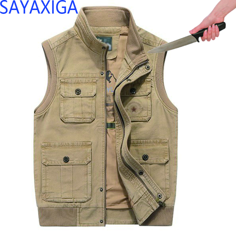 2018 New Arrival Anti-cut Anti-stab Casual Vest Men Stab Resistant Outfit Self-defense Plus Anti-cut Stabfree Cutfree Vests Tops Consumers First Jackets & Coats