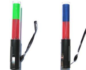 Image 1 - OutdoorDouble, linterna LED de tráfico con muchos colores de seguridad parpadeantes, bastón de 26cm de largo, imán en la parte inferior