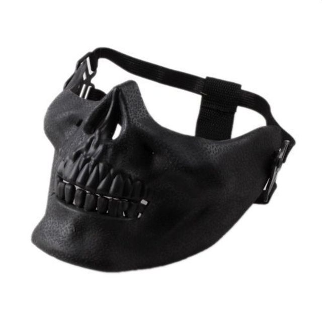 Minch Scary Mask Halloween Skull Skeleton Mask Costume Half Face Masks for Party Cospaly