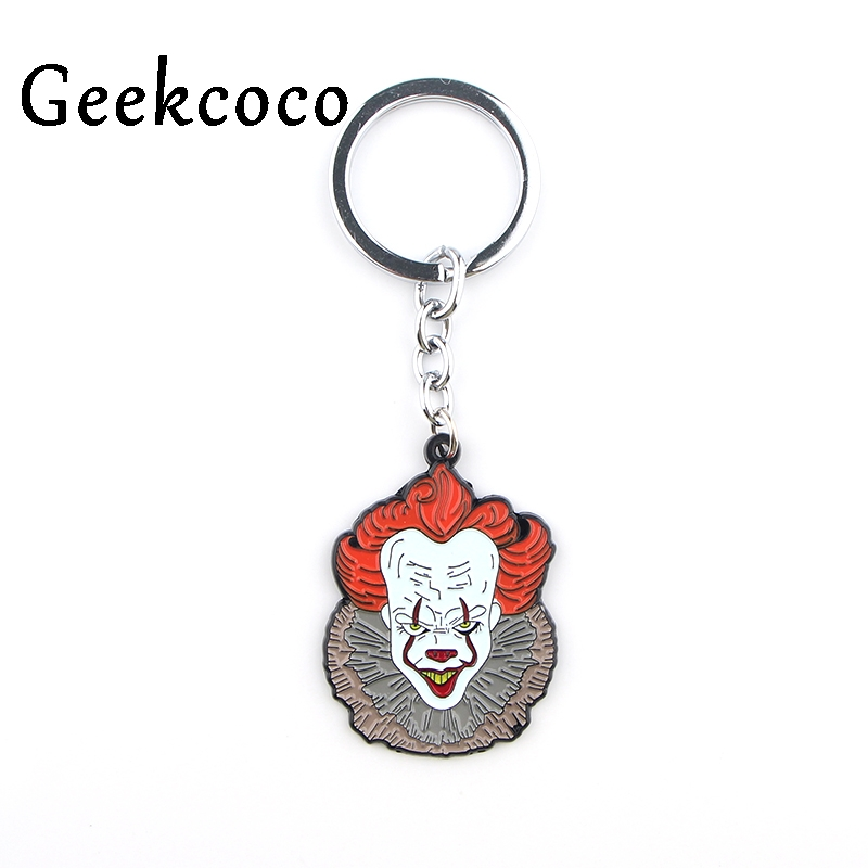 Stephen King's It Horror Movie Punk Jewelry Keychain Keyrings Men's Fash Personalized Hip Hop Car Key Chains Chaveiro Gift J0425