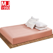 100% Polyeste Fitted Sheet Mattress Cover Solid Color Sanding Bedding Linens Bed Sheets With Elastic Band 160*200 cm Double Size