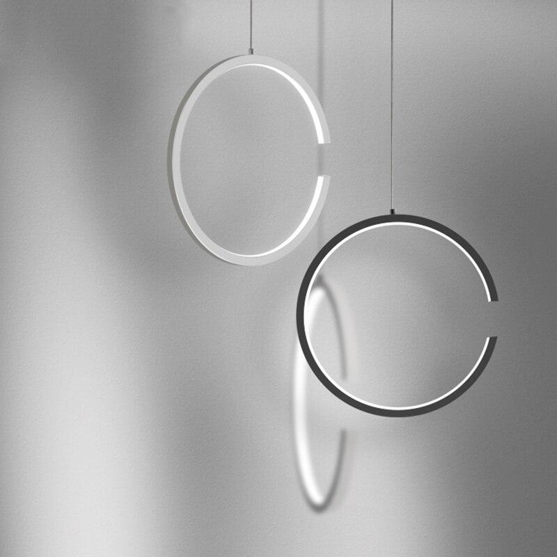 AC90-260V Pendant Lights Round circles Hanging suspension home lights office study room Lighting fixture Pendant Lamp Modern LED цена 2017