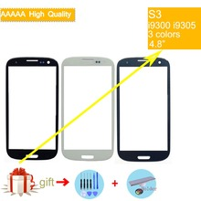 For Samsung Galaxy S III S3 GT-I9300 I9300 i747 i9305 Touch Screen Front Glass Panel TouchScreen Outer Glass Lens NO LCD