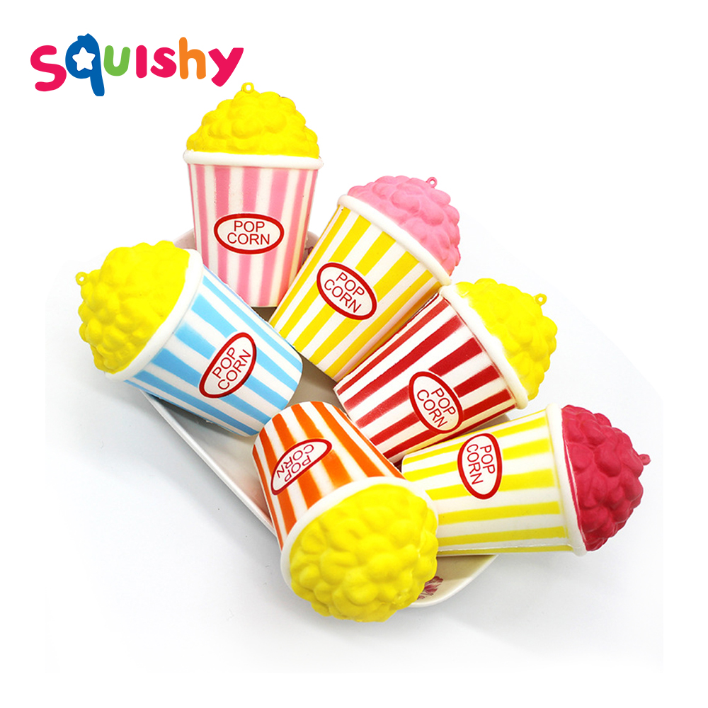 Antistress Fun Squishy Pop Corn Squishe Squishy Slow Rising Stress Relief Toy Novelty Gag Toys For Children Anti-stress Gadget