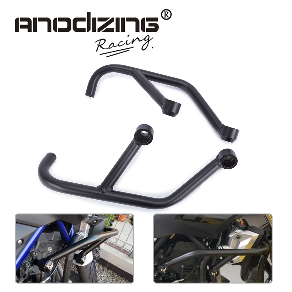2013 2014 2015 2016 FOR YAMAHA MT-03 MT-25 MT 03 MT 25 FZ 03 Black Engine Guard Crash Bar Protector for yamaha mt 03 2015 2016 mt 25 2015 2016 mobile phone navigation bracket page 1