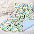 Детские одеяла 2017 новый сгущает двойной слой флиса пеленать младенца bebe коляска обернуть конверт для новорожденных детское постельное белье одеяло