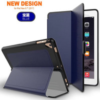 For Apple New Pad 9 7 2017 PU Leather Back Cover Case Foldable Smart Sleeping Protective
