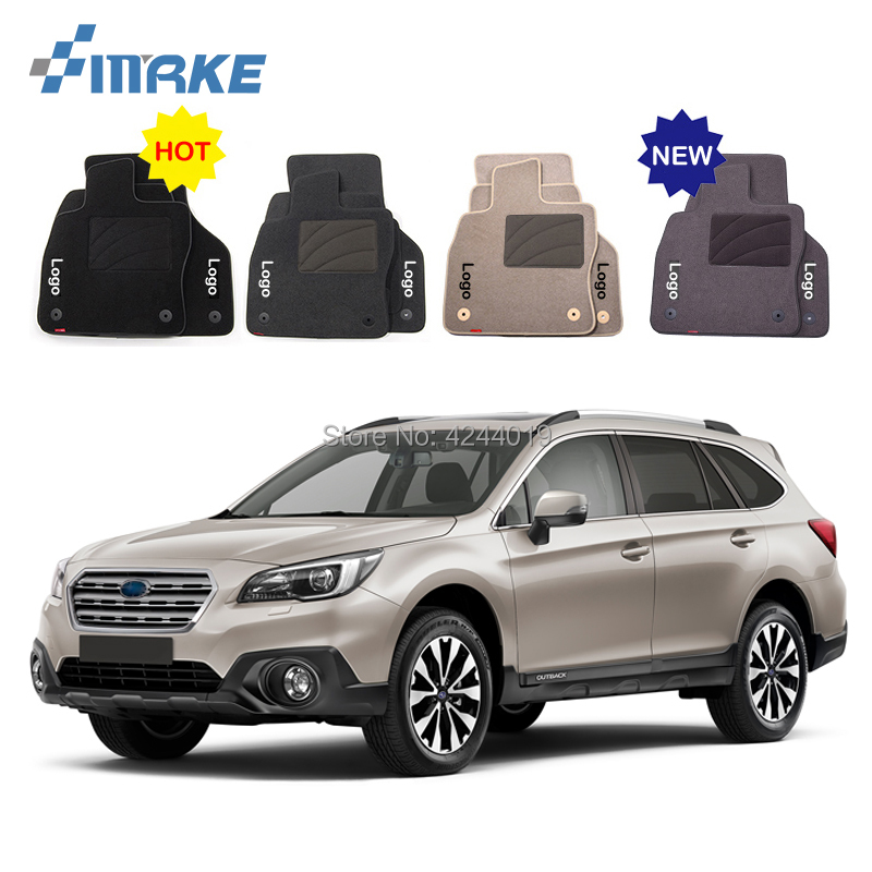 For Subaru Outback Car Floor Mats Front Rear Carpet Complete Set Liner All Weather Waterproof Customized Car Styling