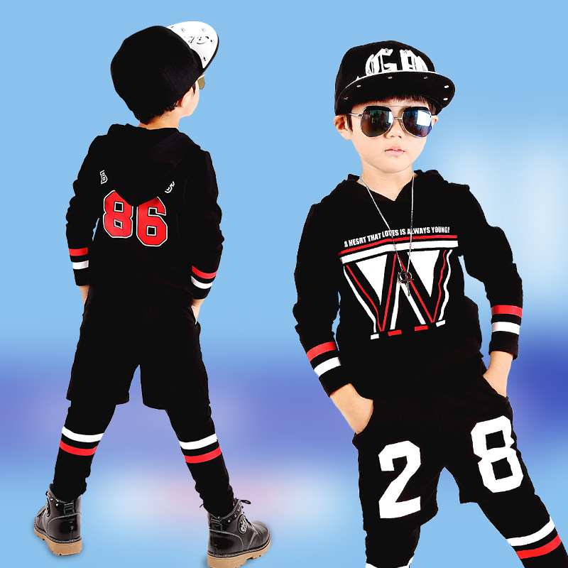 ФОТО Good Quality 4-13Years Old Children Hoodies Nice Long Sleeves 3PCS Sport Sweatshirts Boys Geometric Active Boy Clothing