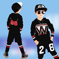 Good Quality 4-13Years Old Children Hoodies Nice Long Sleeves 3PCS Sport Sweatshirts Boys Geometric Active Boy Clothing