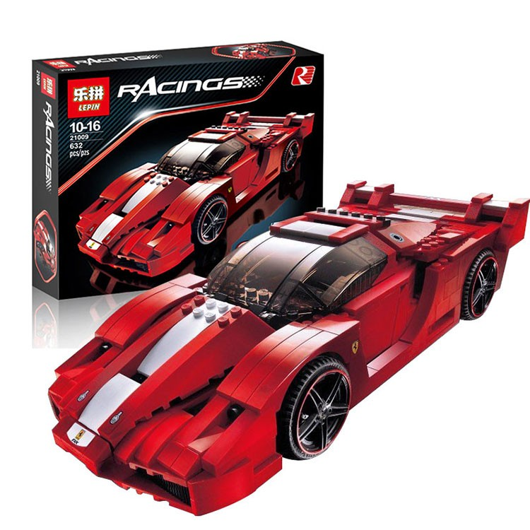 Lepin 21009 Genuine Creative Series The Out of Print FXX 1:17 Racing Car F1 Car Set Building Blocks Bricks Toys car model scene 1 18 car girl dolls out of print