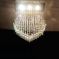 Z K9 Crystal Ceiling Lamp Heart Shape LED Chandelier Modern Lighting Fixture Foyer Dining Room Lamps