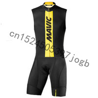 2019 MAVIC Pro Team Cycling Skinsuit Triathlon Ropa Ciclismo Maillot Jumpsuit Road Racing Skinsuit sleeveless Bike Jersey set