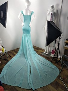 Image 5 - Long Tail Maternity Dresses For Photo Shoot Maternity Photography Props Maxi Dresses For Pregnant Women Clothes Pregnancy Dress