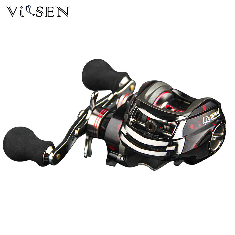 Здесь продается  VISSEN Fishing Reel Brake System 6KG 13+1BB Left/Right Hand Bait Casting Fishing Reel Ball Bearing 6.3:1 carretilhas de pescar  Спорт и развлечения