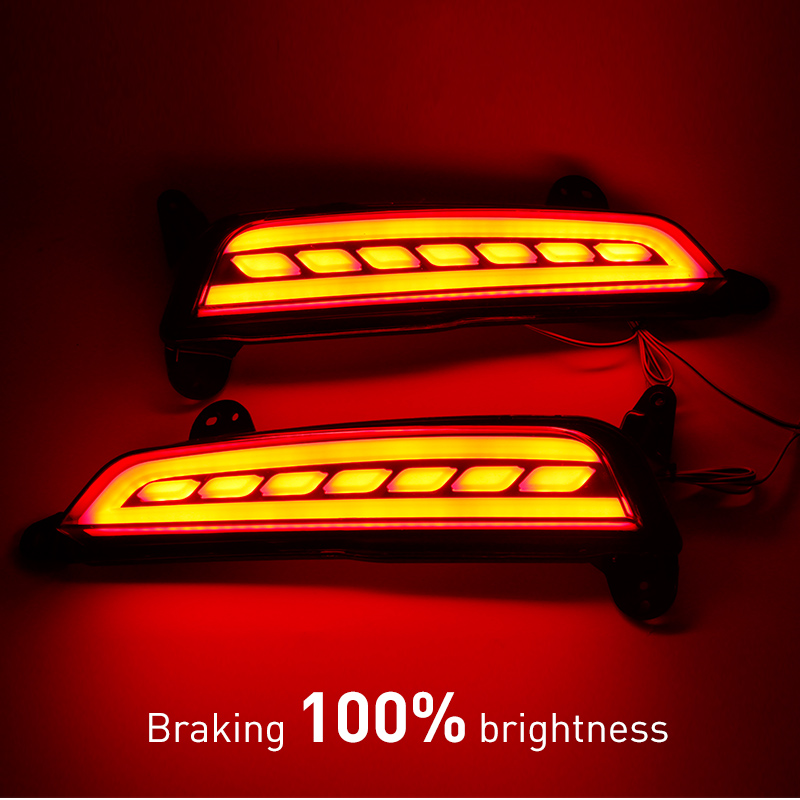 OKEEN For Hyundai IX25 2014 2015 LED Rear Bumper Reflector Light brake tail fog lights Car Truck LED lamps 12V 2pcs okeen brand automobiles rear lihgts car led light bar tail rear bumper reflector lights parking lights for 2009 honda crv