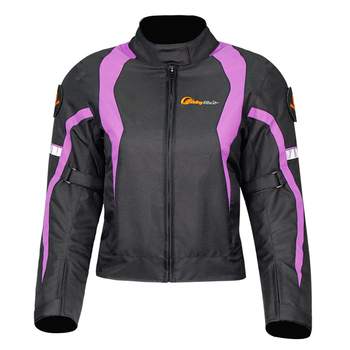 New Slim Reflective Windproof Waterproof Girl Women Motorcycle Jacket with 5 Protective Pads Detachable Warm Inner Free Gifts