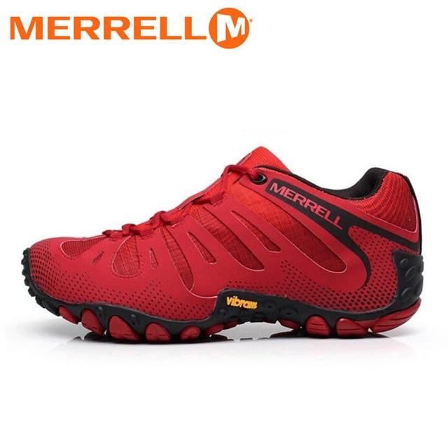 eae1dc004c6 Merrell de Femmes Mesh Respirant Rouge Aucun Glissement de Randonnée En  Plein Air Chaussures Pour Femme