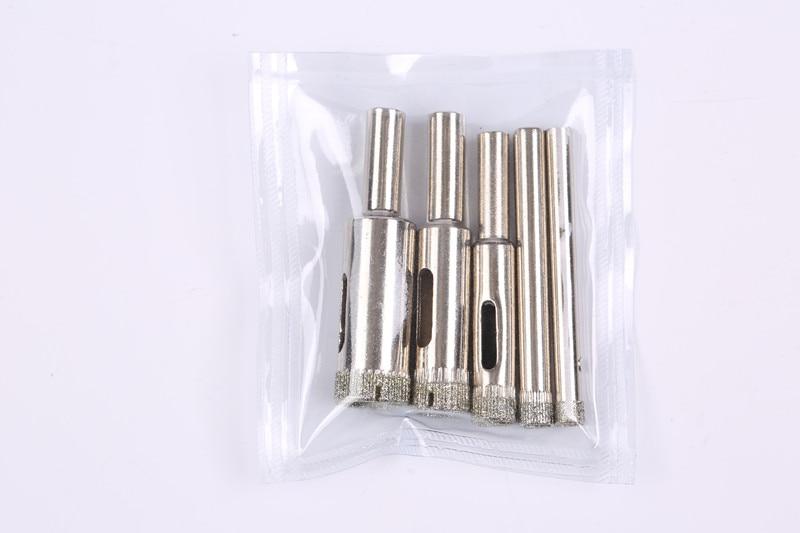 10pcs 4mm-12mm herramienta de perforación de brocas de núcleo de vidrio de diamante vio Sierra húmeda para vidrio, cerámica, azulejo,