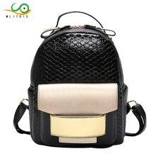 MLITDIS Women Backpack female Bolsas Womens Backpacks For Teenager Girls School Bag Serpentine Crocodile Ladies Bags Designer