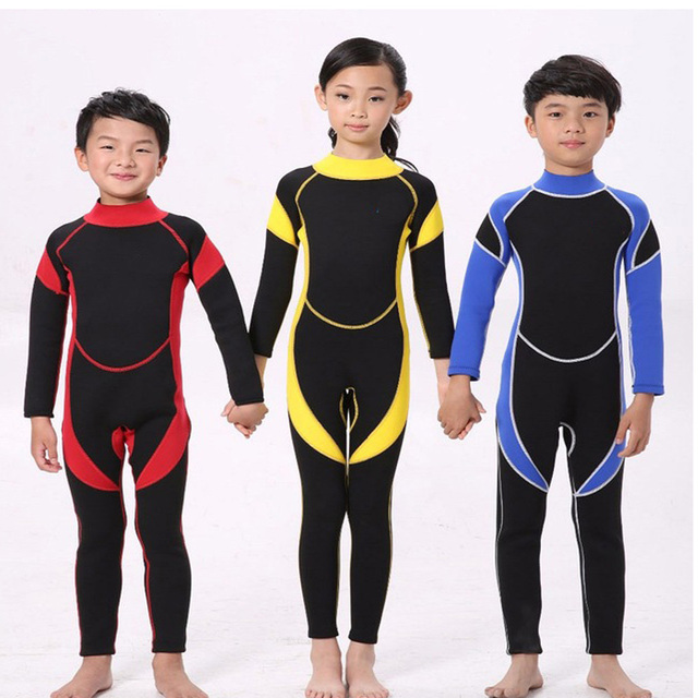 08c82cedc9 New Warm Neoprene Wetsuits Kids Swimwears Diving Suits Long Sleeves wetsuit  Boys Girls Surfing Snorkeling Rash