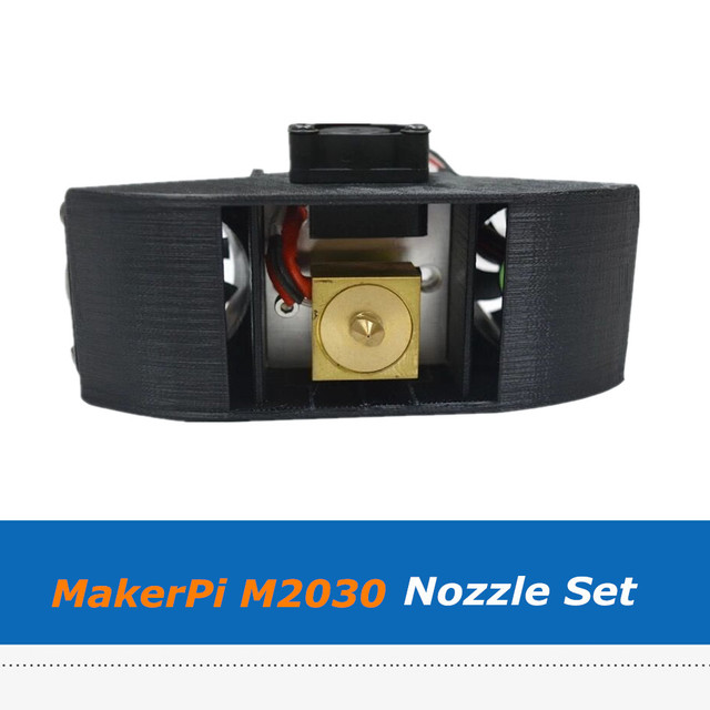MakerPi M2030X 3D yazıcı ekstruder parçaları iki in one 0.4mm memesi seti Mix renk baskı