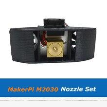 Makerpi M2030X 3D Printer Extruder Onderdelen Twee In Een 0.4Mm Nozzle Set Voor Mix Kleur Afdrukken