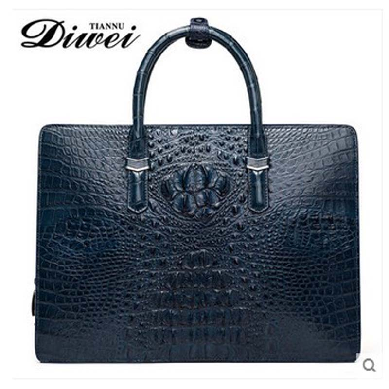 diwei 2018 new hot Thailand crocodile leather men bag cross section briefcase laptop bag leather business large men handbag стулья для салона thailand such as