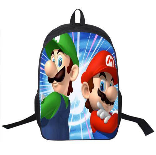 2016 Hot Sale Children s 3D Cartoon Backpack Cool Super Mario School Backpack for Kids Mario