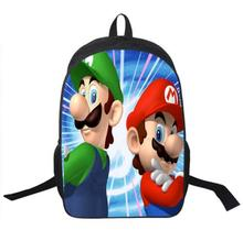 Hot Sale Children's 3D Cartoon Backpack Cool Super Mario School Backpack for Kids Mario Bros Shoulder Bags for Boys