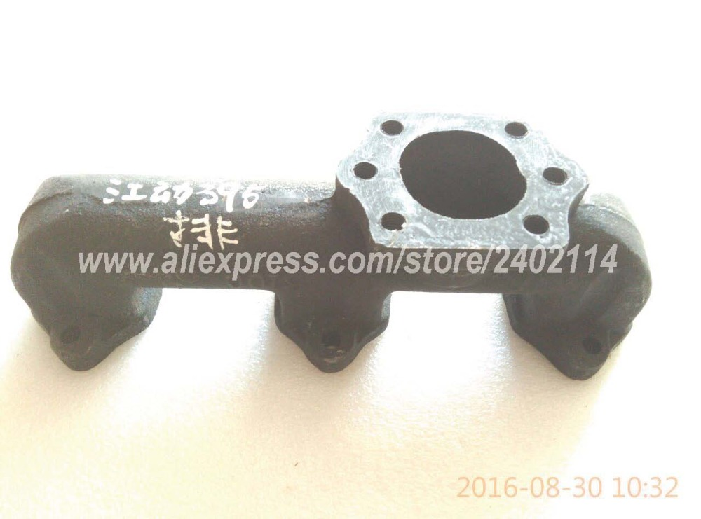 Jiangdong TY395 TY3100IT parts, exhaust mainifold for tractor like Jinma and Dongfeng series, part number: TY395I.10-2 jiangdong ty395e jd495 engine for tractor like jinma the water pump for by pass hoses and extra vent for warm