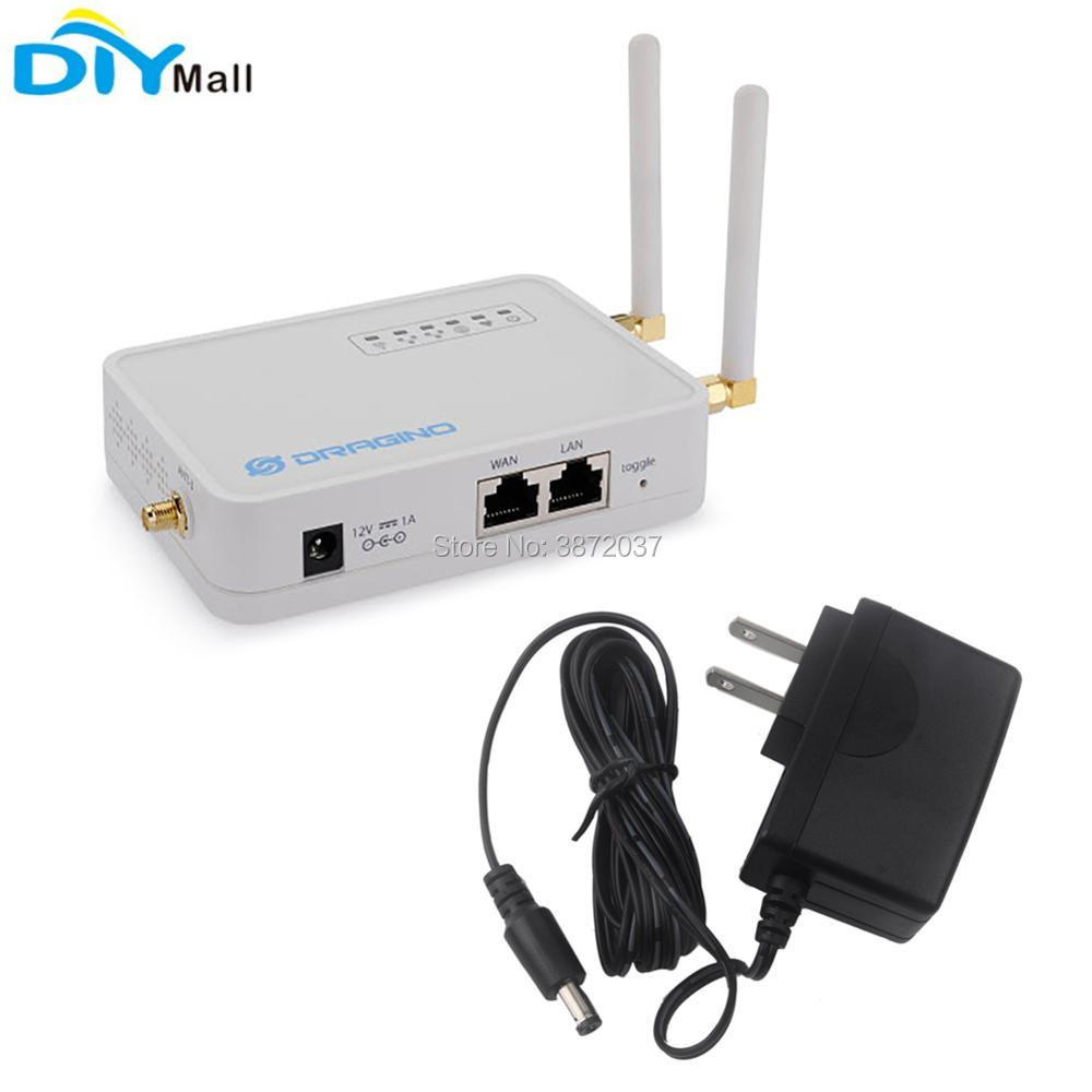цена на For Dragino LG02 Dual Channel LoRa Gateway Wireless Transceiver 915MHz 868MHz 433MHz LoRaWAN Repeater GPS Home Automation