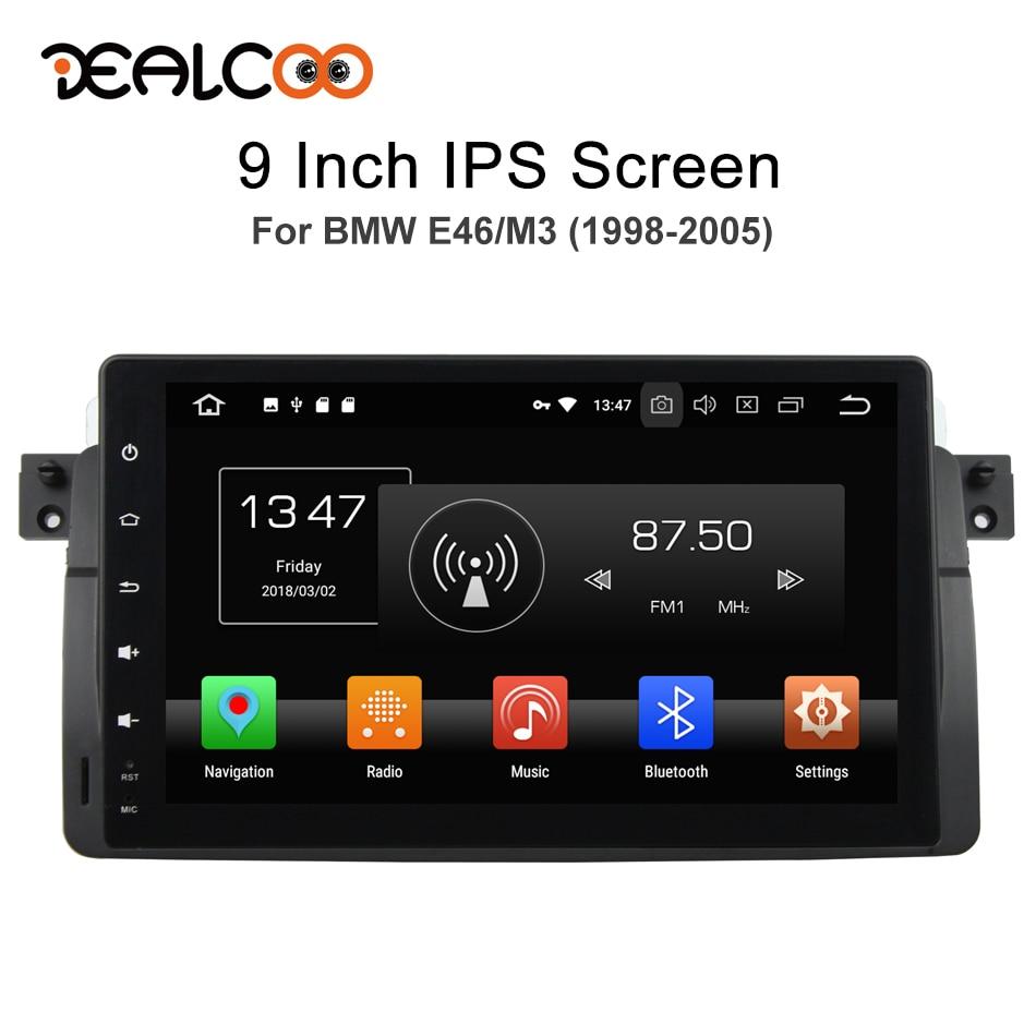 Dealcoo 2 Din Car Radio GPS Android Autoradio 2 Din Android Car Radio 2din Android Central Multimedia for BMW E46/M3 1998 2005