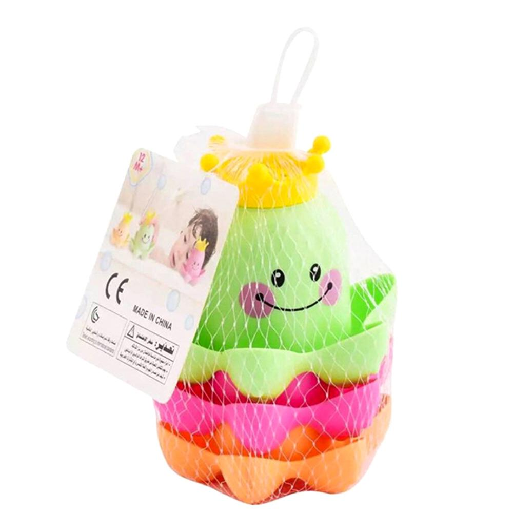 Ocean Life Stacking Cups Bath Toy Summer children's play water beach toys Children Play Educational Cute Funny Bathroom Toys 3