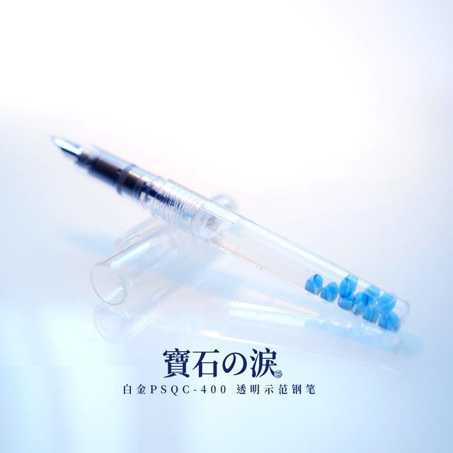 Japan Imports pluma estilográfica de PSQC 400 PLATINUM, tinta de Color transparente con pluma estilográfica, 1 Uds.