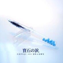 Japon importe platine PSQC 400 stylo plume Transparent démonstration couleur encre étudiant stylo plume 1 pièces