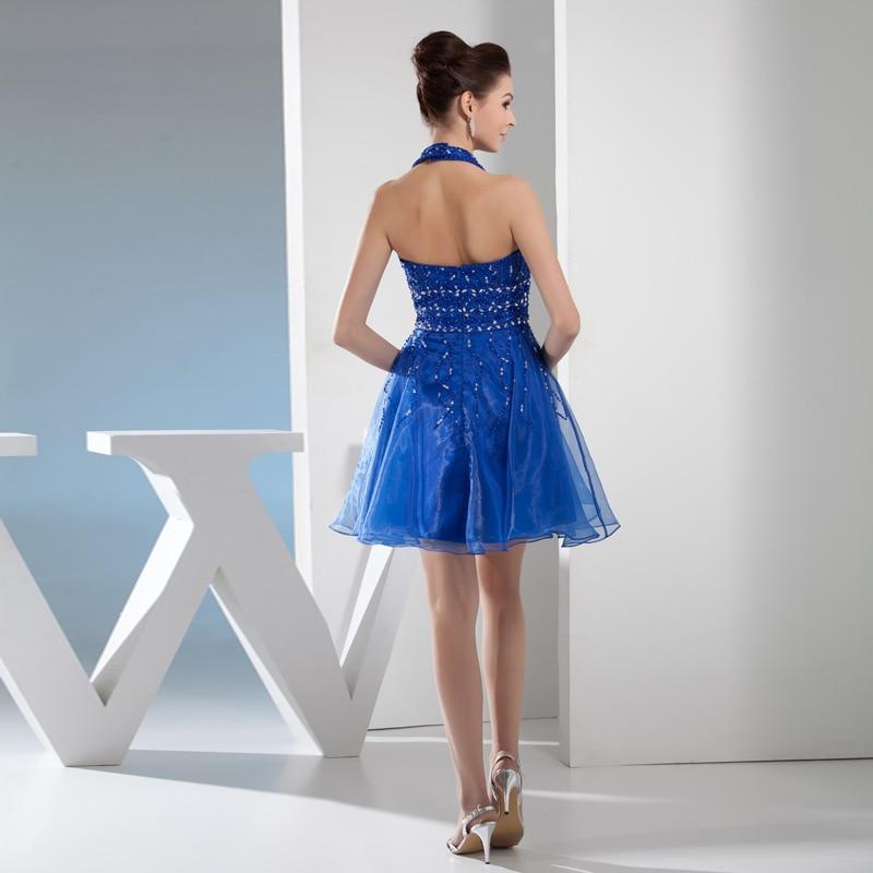 NIXUANYUAN 2017 Elegante Perlen Party Kleid Halfter Royal Blue ...