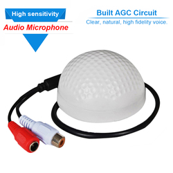 Cctv security camera dvr microphone wide range high sensitivity audio mic sound pickup low noise clear.jpg 250x250