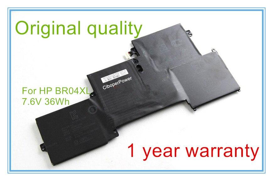 D'origine BR04XL Batterie pour 1020 1040 G1 G2 Série BR04 HSTNN-DB6M 760605-005 HSTNN-I28C HSTNN-I26C Ordinateur Portable