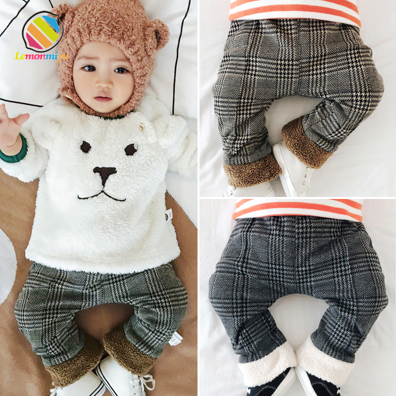 Lemonmiyu Legging Newborn Trousers Warm-Pants Baby Autumn Cotton Fashion Casual Velvet
