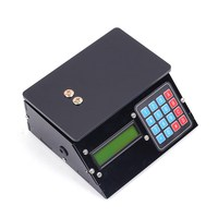 DIY Kit Electronic Scales 10kg 1g Black Shell Pressure Sensor Price Scale USB Electronic Clock