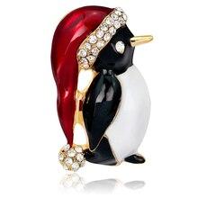 Pinguim bonito Broches de Strass Broche de Pino Acessórios de Vestuário para Homem Mulheres Moda Festa de Casamento Jóias Presentes XZ063