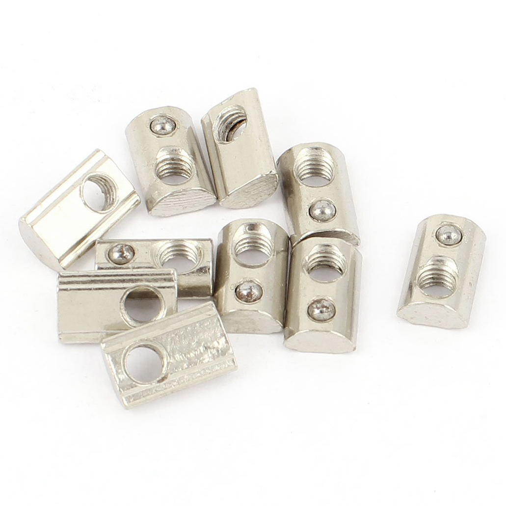 10pcs 20 Series M5 Slide-In Ball Spring T Slot Nut 13.6mmx8.5mmx4.3mm
