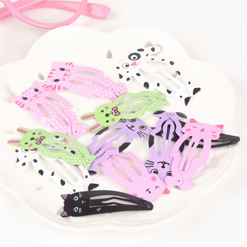 Fashion Women Hairpin Alloy Barrette Cartoon Animal Cat BB Hair Clip Side Baby Gift Girl Hairgrip Jewelry Hair Accessories 6pcs lysumduoe headband black hairpin women clip s shape barrette girl hairgrip hairgrips children hairpins jewelry hair accessories