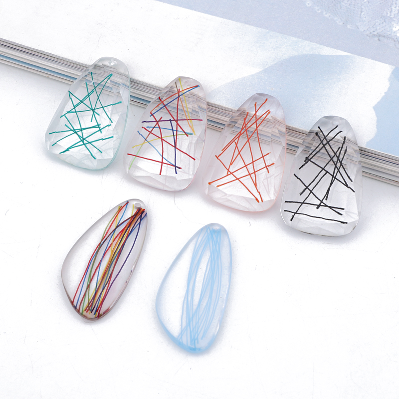 Jewelry-Accessories Charm-Findings Irregular-Earrings Necklace Pendant Handmade Dangle-Resin