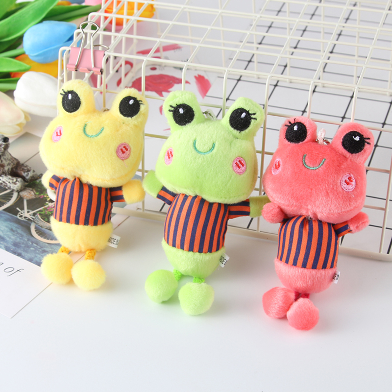 2019 New Arrival Key Chains Holder  Pendant Stuffed Kids Toy Appease Doll Bag Charm Cute Frog Soft Toy Crib Mobile Car Ornament